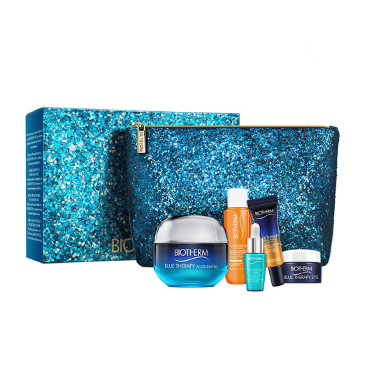 biotherm blue therapy accelerated anti-aging cream 50ml gift set 4 piezas
