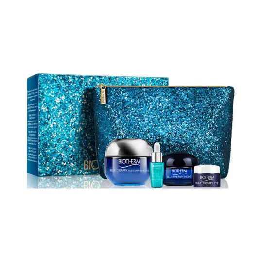 biotherm blue therapy multi-defender crema piel normal mixta 50ml set regalo 4 piezas + neceser