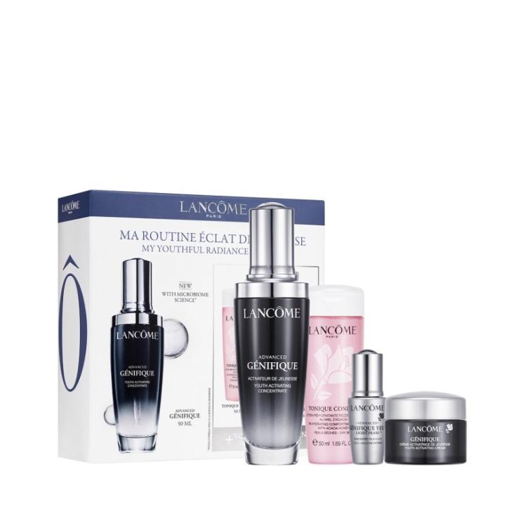lancome advance genifique serum routine set 4 piezas