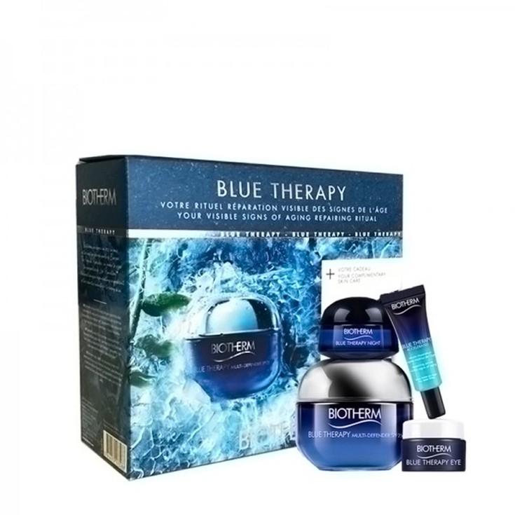 biotherm blue therapy multidefender crema dia 50ml set regalo 4 piezas