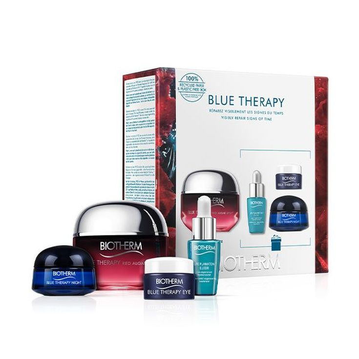 biotherm blue therapy red algae uplift crema antiedad reafirmante set regalo 4 piezas