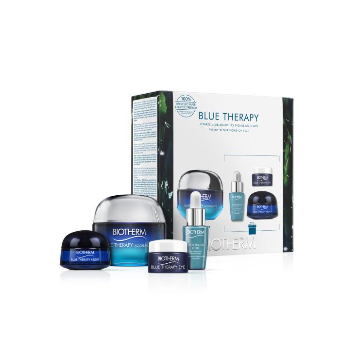 biotherm blue therapy accelerated crema sedosa reparadora antiedad 50ml set regalo 4 pieza