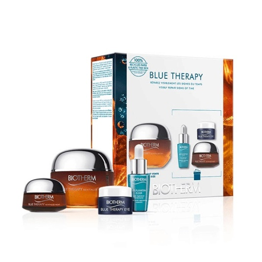 biotherm blue therapy amber algae crema 50ml set regalo 4 piezas