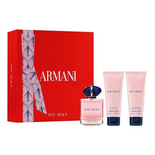 giorgio armani my way eau de parfum 90ml cofre 3 piezas