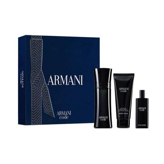 armani code men eau de toilette 75ml cofre 3 piezas