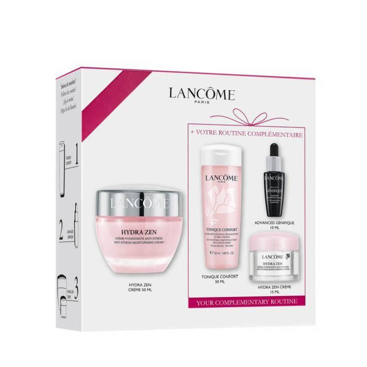 lancôme hydra zen anti-stress crema 50ml set 4 piezas