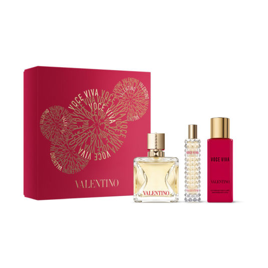 valentino donna voce viva eau de parfum 100ml cofre 3 piezas