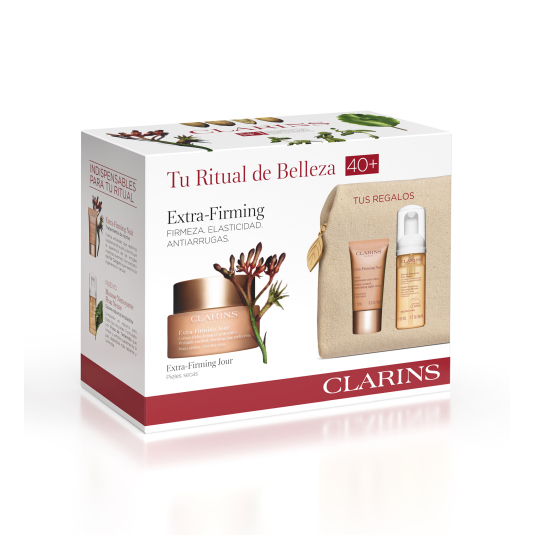 clarins experto extra firming crema 50ml piel seca set 4 piezas
