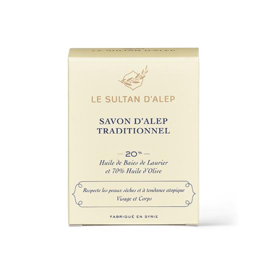 le sultan d`alep jabón de alepo tradicional 20% aceite laurel