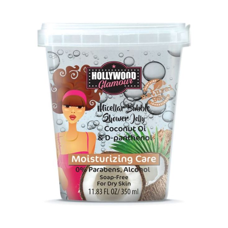 hollywood glamour micellar buble gel ducha aceite coco 350ml