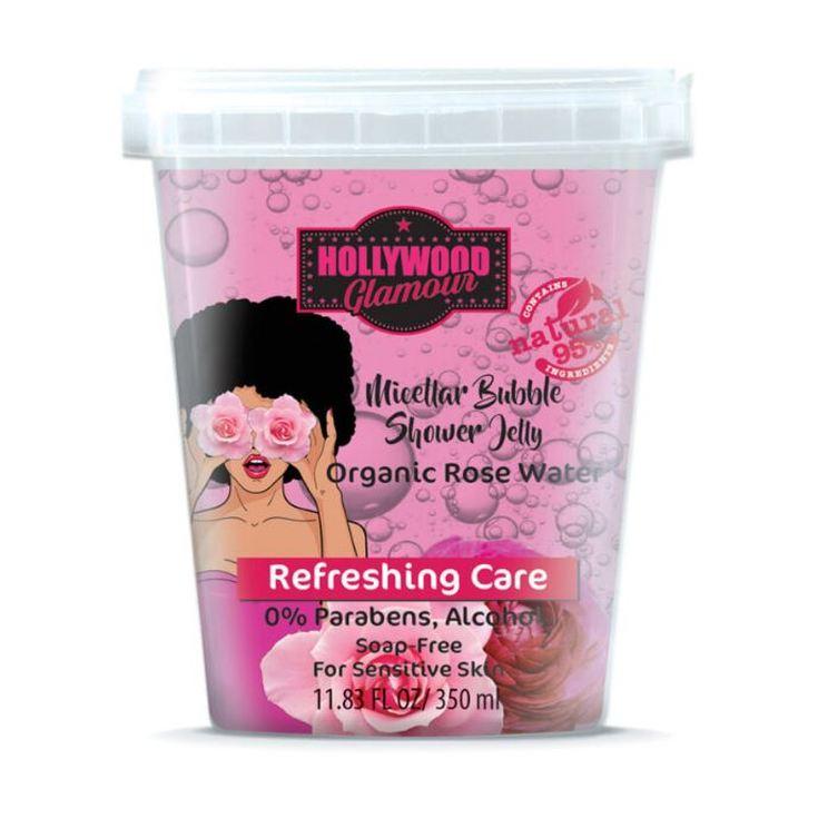 hollywood glamour micellar buble gel duchacon agua de rosa bio 350ml