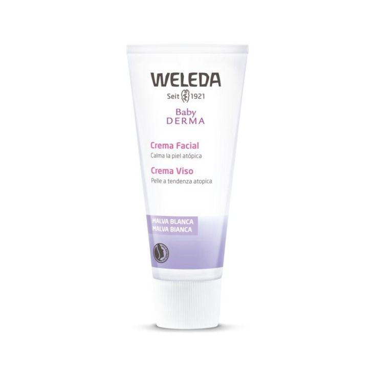 weleda malva blanca crema facial con para bebes 50ml