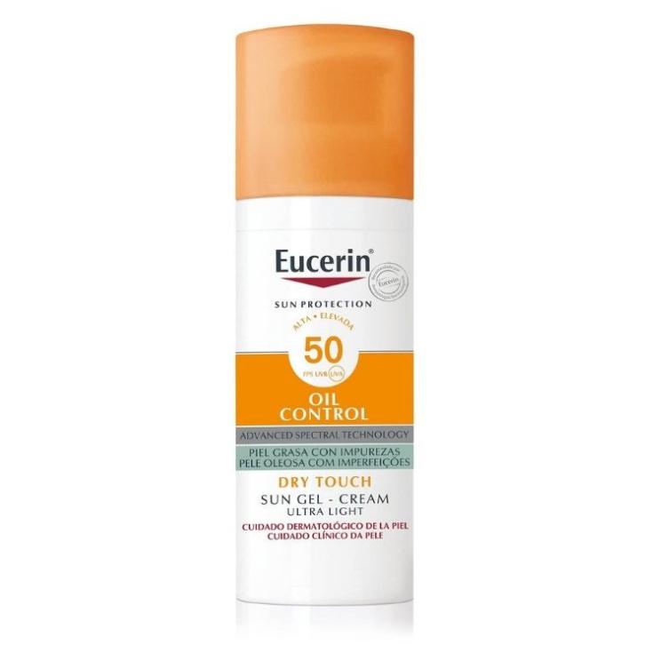eucerin sun prorection gel oil control dry touch spf50 protector solar facial piel grasa
