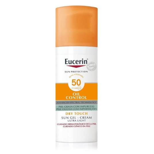 eucerin sun protection oil control gel-crema solar facial toque seco spf50+ 50ml