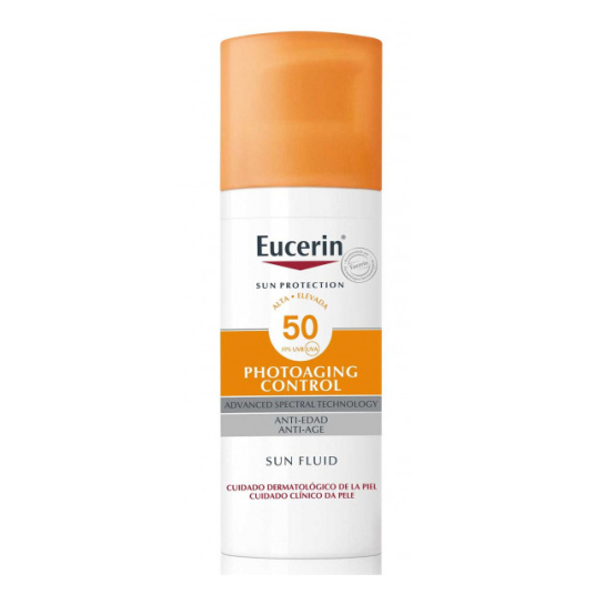 eucerin sun fluid photoaging control solar facial fluido antiedad spf50 50ml
