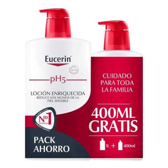 eucerin ph5 loción enriquecida 100ml+400ml gratis