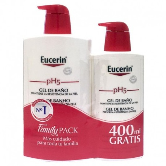 eucerin ph5 skin-protection gel de baño piel sensible+400ml