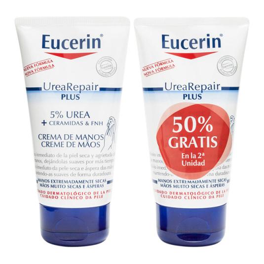 eucerin urearepair plus crema de manos piel seca-muy seca duplo 2x75ml