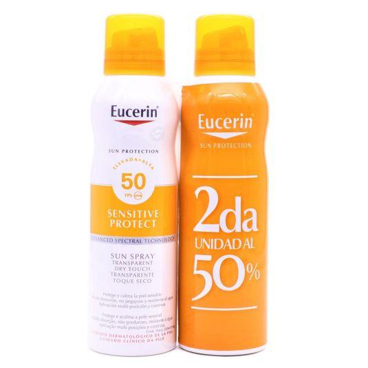 eucerin sun sensitive protect spray sfps50+ duplo 2x200ml