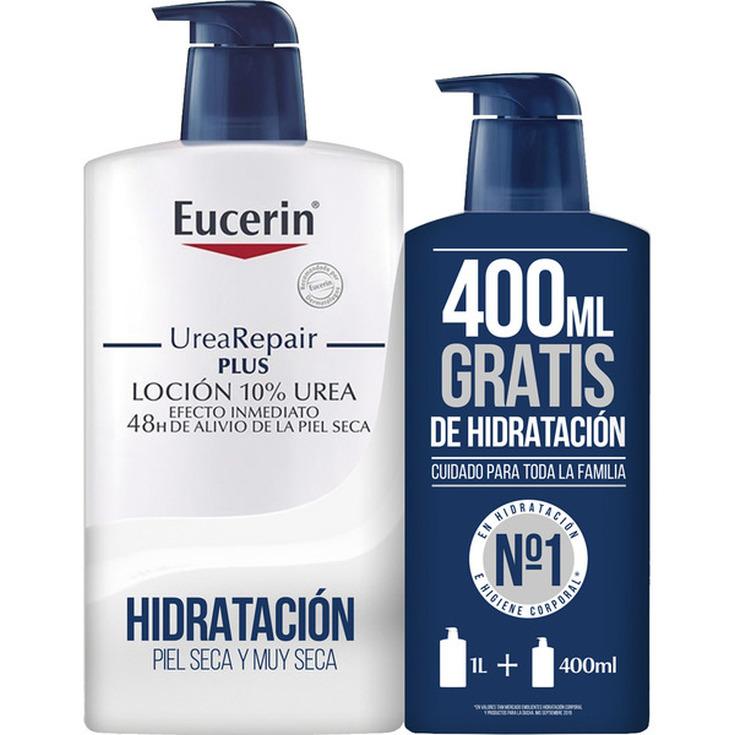 eucerin urearepair plus locion 10% urea para piel seca y muy seca frasco 1000ml+400ml gratis