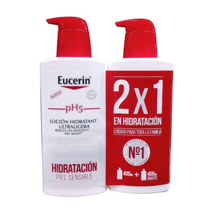 eucerin ph5 locion ultraligera 400ml 2x1