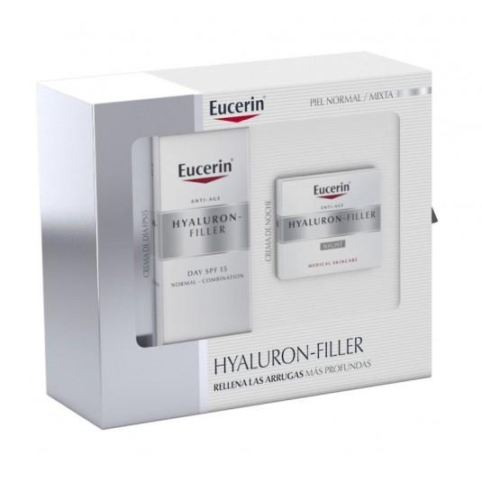 eucerinhyaluron-filler set crema dia + noche piel normal