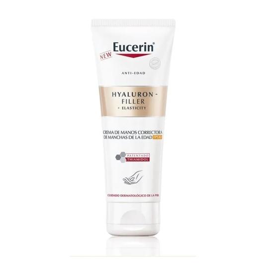 eucerin hyaluron filler + elasticity spf30 crema de manos antiedad