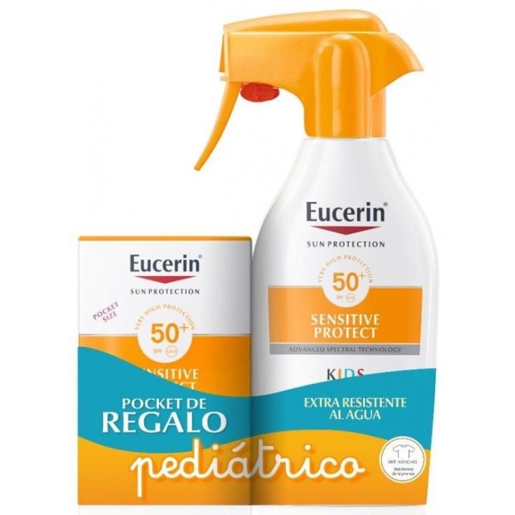 eucerin  sun protection sensitive protect spray solar infantil spf50+ 300ml + 50ml gratis