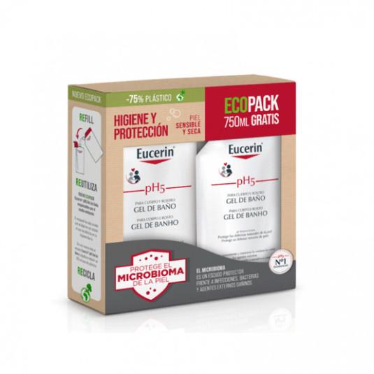 eucerin ecopack ph5 gel baño 1l + 750ml gratis eco-recarga