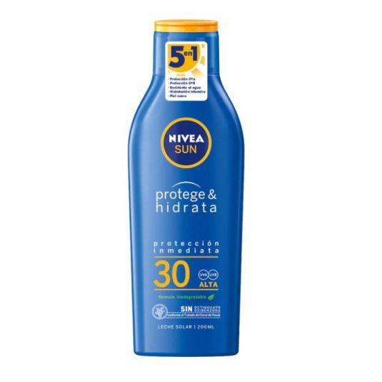 nivea sun protege & hidrata protector solar corporal spf30 200ml