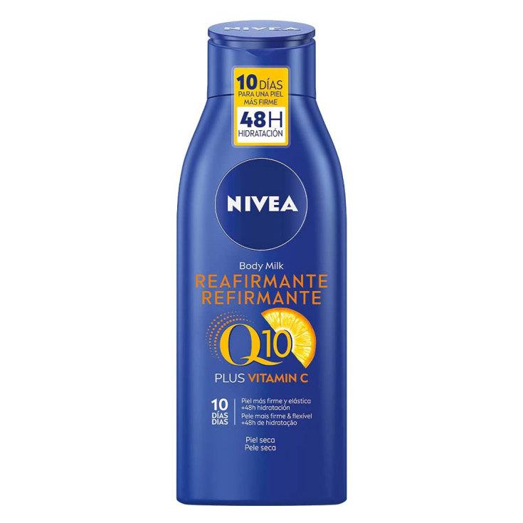 nivea q10 + vitamina c crema corporal reafirmante piel seca 400ml