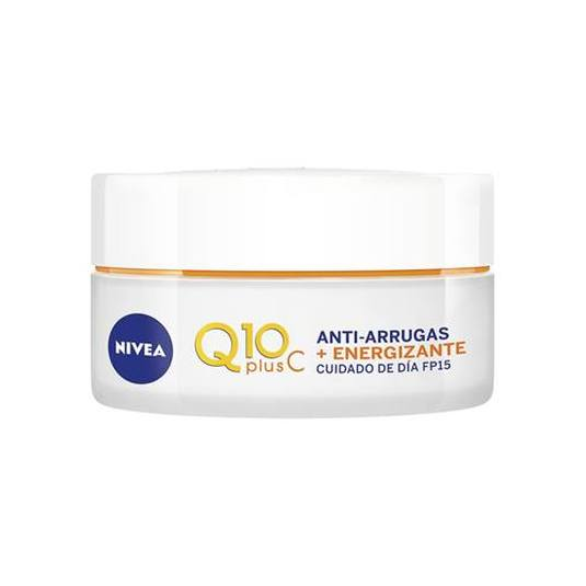 nivea q10 plusc anti-arrugas + energizante crema día 50ml
