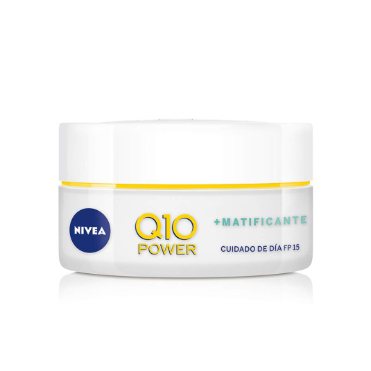 nivea q10 power anti-edad + matificante crema día spf15 50ml