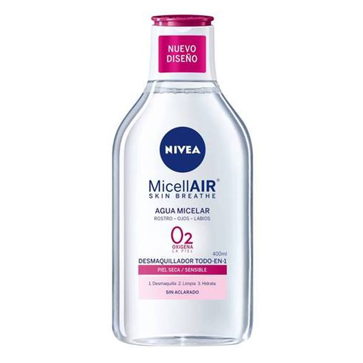 nivea micellair agua micelar piel seca-sensible 400ml