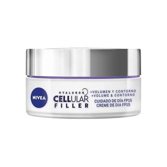 nivea hyaluron cellular filler crema día volumen y contorno spf15 50ml