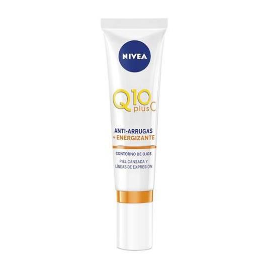 nivea q10 plusc anti-arrugas+ energizante crema contorno de ojos 15ml