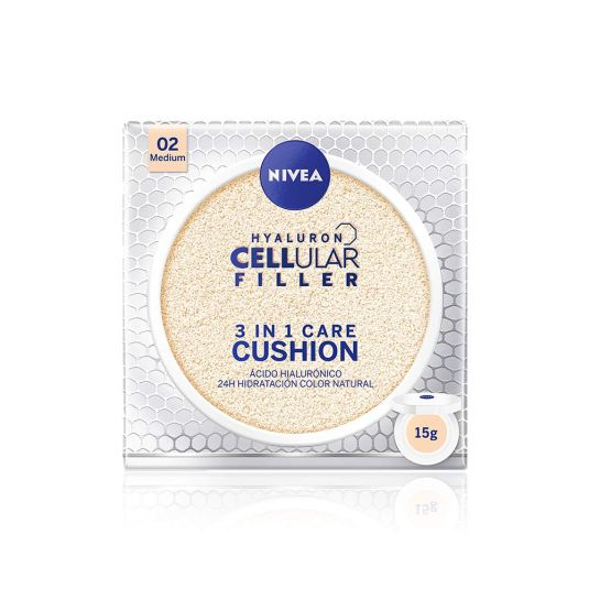 nivea hyaluron cellular filler 3en1 crema con color tono medio