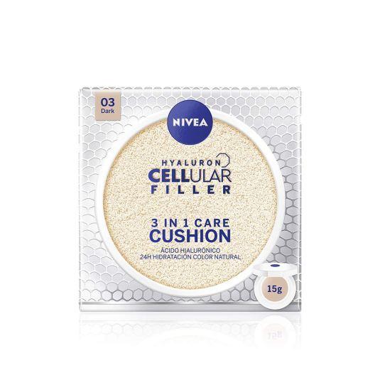 nivea hyaluron cellular filler 3en1 crema con color tono oscuro