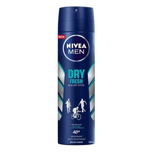 nivea men dry fresh desodorante spray 200ml