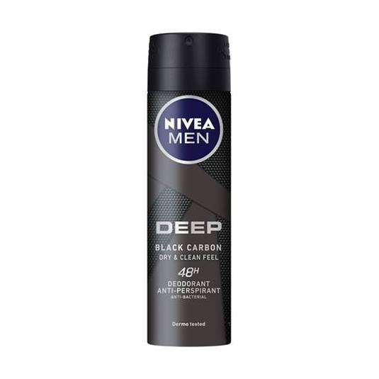 nivea men deep dry & clean spray desodorante spray 150ml