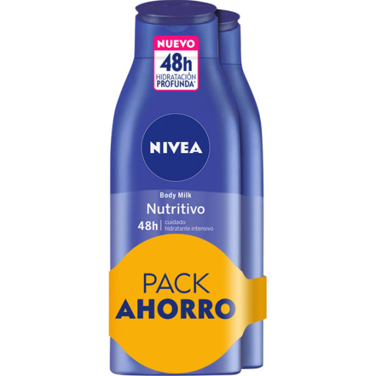 nivea body milk nutritivo duplo 2x400ml