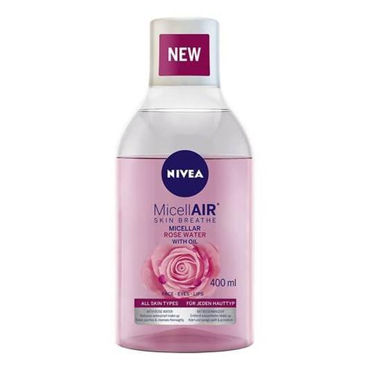 nivea micellair agua micelar con aceite & agua de rosas 400ml