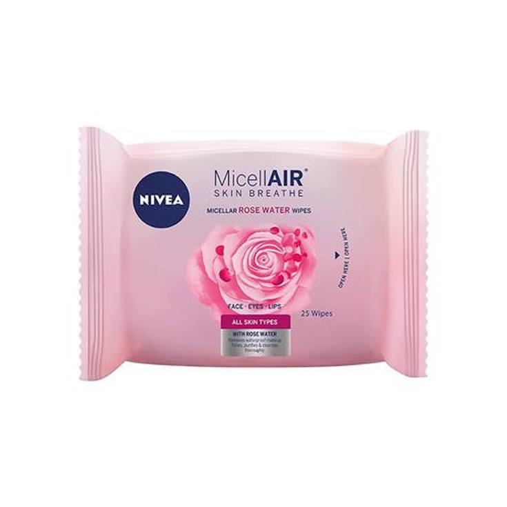 nivea micellair toallitas desmaquilladoras agua de rosas 25ud