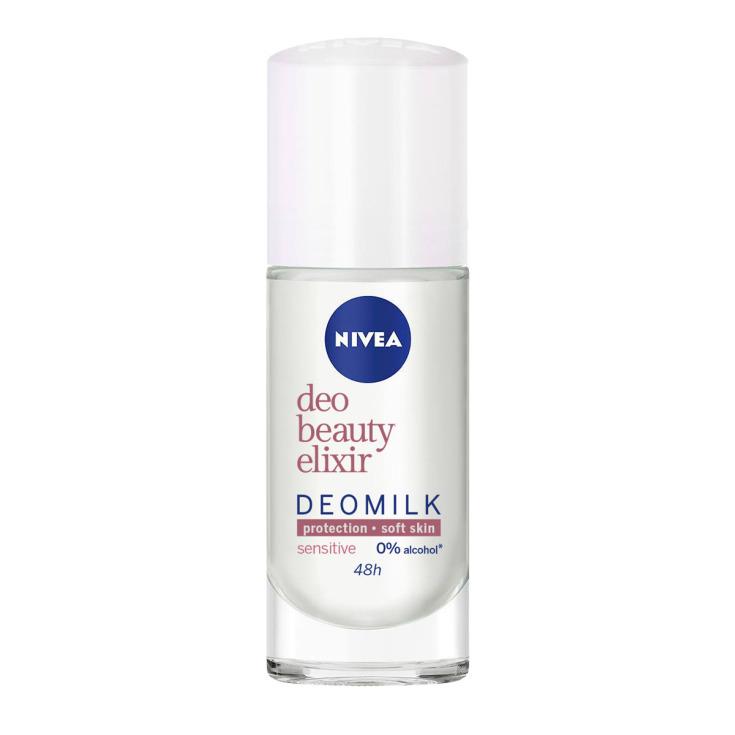 nivea deomilk sensitive desodorante roll-on 48h 40ml