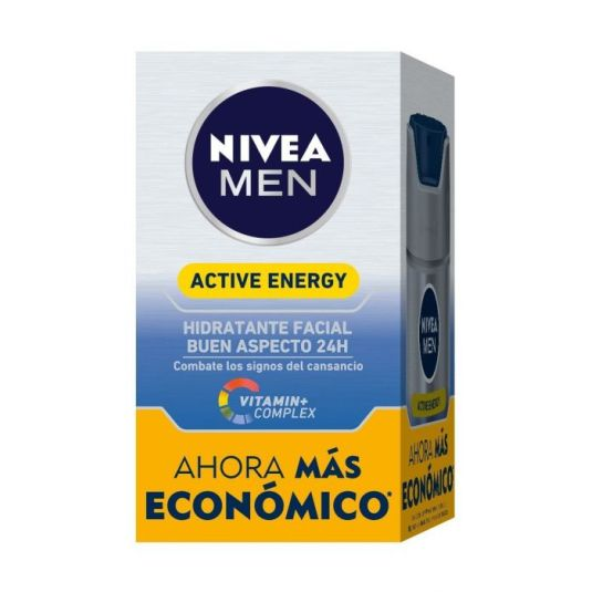 nivea men active energy hidratante facial revitalizante dosificador 50 ml
