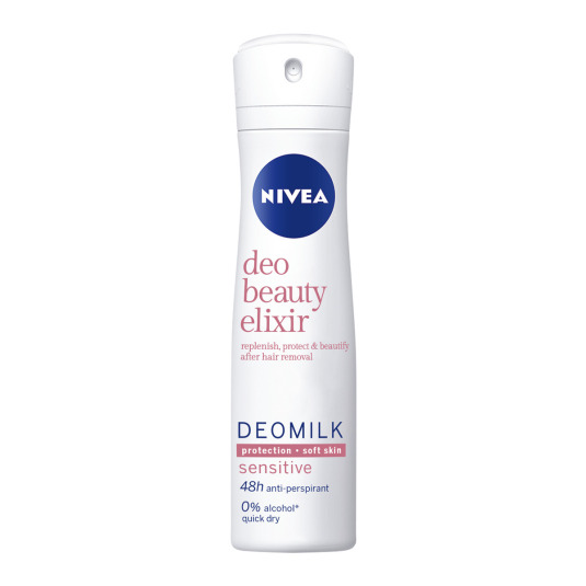 nivea deomilk sensitive desodorante 48h spray 150ml