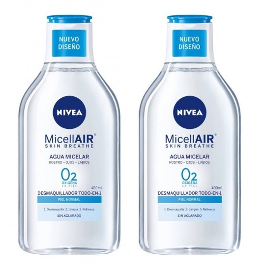 nivea micellair agua micelar piel normal duplo 2x400ml