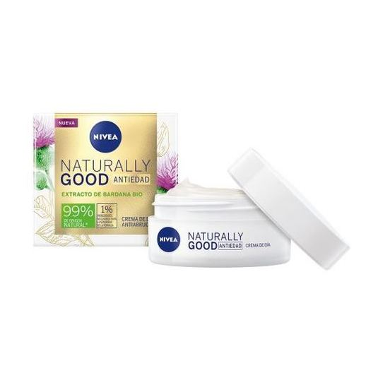 nivea naturally good crema de dia antiedad extracto bardana bio 50ml