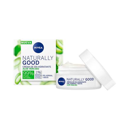 nivea naturally good crema de dia hidratante aloe vera bio 50ml