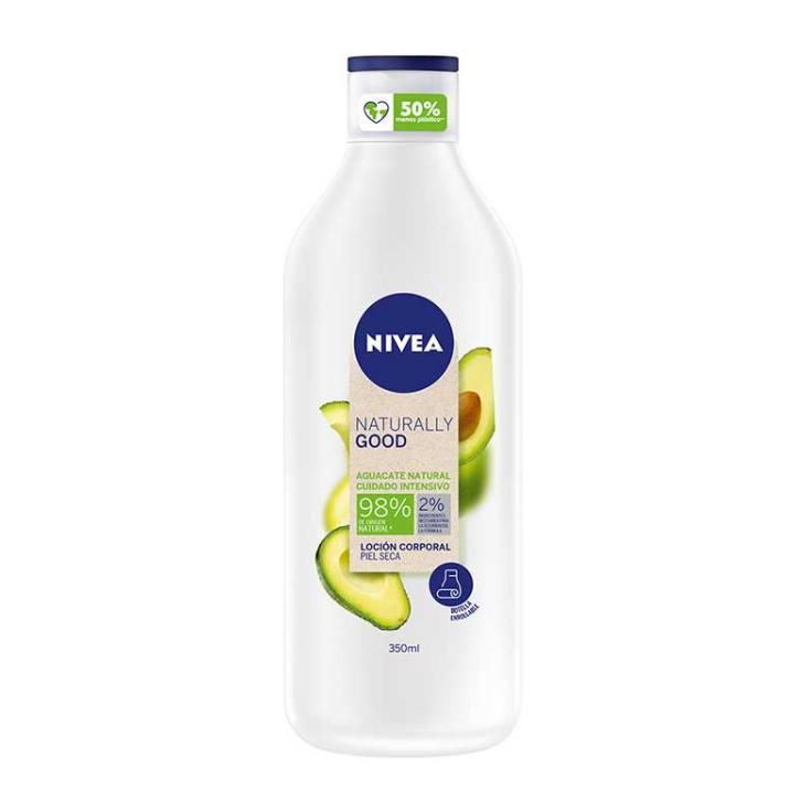 nivea naturally good locion corporal aguacate natural piel seca 350ml
